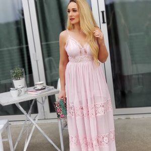 Change of Heart Pink Maxi Dress